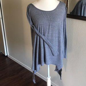 Women's free people slouchy tunic gray